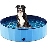 COOL PAWS DOG POOL – Keep your dogs cool this summer with the pet bathing tup. This 2 in 1 pool can be used as a dog or kiddie pool or you can simply fill it up with your dog's favourite toys and let them enjoy. STRONG & DURABLE – The COOL PAWS dog p...