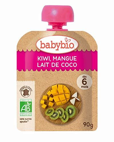 ミトク  baby bio 有機ベビースムージー キウイ・マンゴー・ココナッツ 90g  10袋