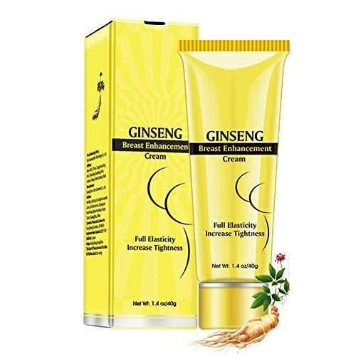 Mimiga Ginseng Brustvergrößerung Creme Bruststraffung Lifting Ginseng Massage Cream Busen Volumen Vergrößern mit der Wirkung der Angehobenen und Festen Brust 40ml