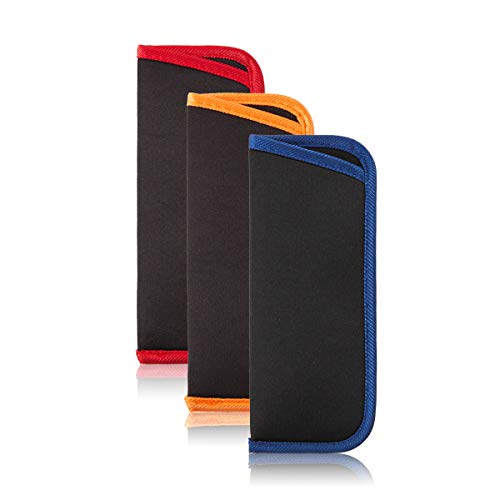 3 Pack Reading Glasses Pouch - Slip in Spectacle Pouch Sunglasses Case Eyewear Bag