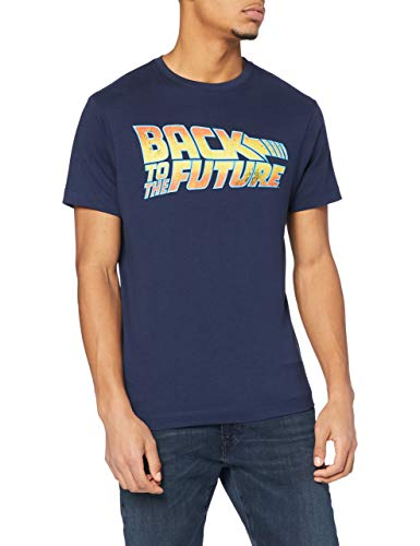 Unbekannt Logo T-Shirt, Blu (Blu Marino), L Uomo