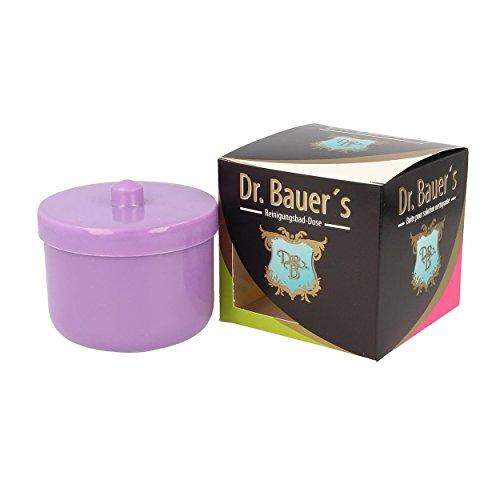 Dr. Bauer´s Reinigungsbad-Dose mit Klarspüleinsatz | Prothesendose | Gebissdose | Prothesendose mit Einsatz | Zahnspangendose (flieder/lila)