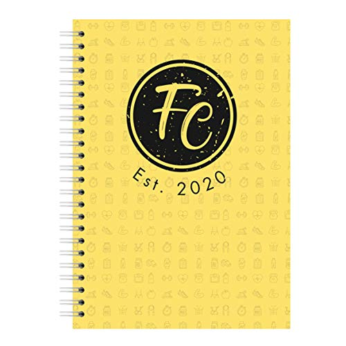 Yesterday today, morning, the ingenious training diary for fitness, strength training, crossfit, or for weight loss, burning fat | your power planner in a practical ring binder. a6 California Yellow