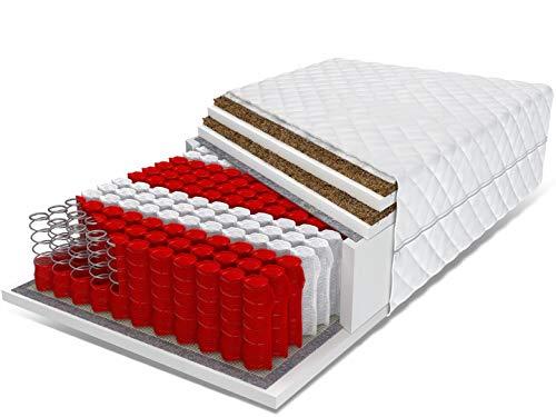 PolBaby Taschenfederkernmatratze FDM 140x200 mit Kokosnuss AGAT 27 cm Matratze, Härte H2 / H4