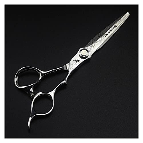 Corte de pelo Tijeras de peluquería profesional de 6 pulgadas 440c, tijeras de adelgazamiento, herramientas de corte de pelo y peinado para el corte de pelo Para mujeres/hombres/niños