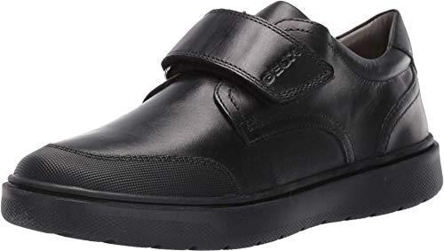 Geox J Riddock Boy I, Zapatos de Uniforme Escolar, Black, 40 EU