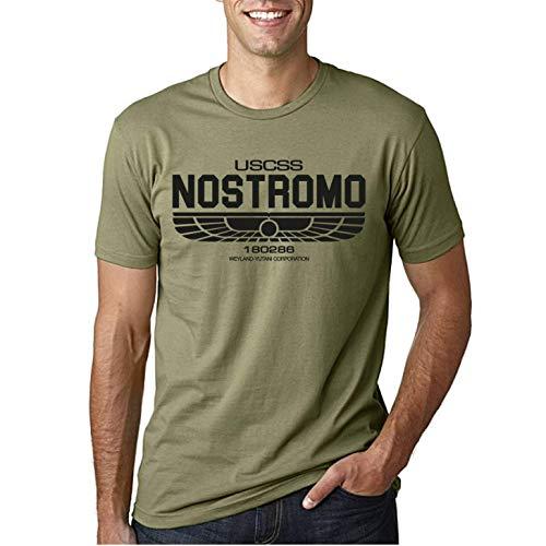 Desconocido USCSS Nostromo - Camiseta Ciencia ficcion para Hombre (Verde Oliva, XL)
