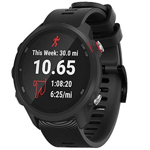 Songsier compatível com pulseira de relógio Forerunner 245, pulseira de substituição de silicone de 20 mm para relógio Galaxy Active/Active 2 40 mm 44 mm/Galaxy Watch 42 mm/Gear Sport/S2 Classic/Forerunner 645 Smartwatches