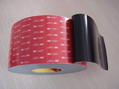 """3m 1/4"""" (6mm) X 21 Ft (7 Yards) VHB Double Sided Foam Adhesive Tape 5952 Grey Automotive Mounting Very High Bond Strong Industrial Grade"""
