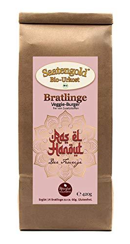 "Saatengold Bratlinge - Veggieburger für 14 Bratlinge | Vegan, Bio, Natürliche Burger | (Veggieburger ""Ras-el-Hanout"")"