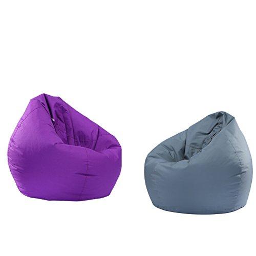Baoblaze 2 unds Cubiertas Decor Cómodo Suave Protección Anti Polvo - Púrpura y Gris, 60x65cm