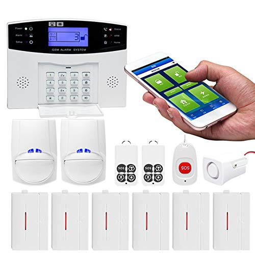 Sistema de Alarma doméstico inalámbrico Inteligente - con Sensor Que admite Mascotas y activación y desactivación temporizadas | Intercomunicador bidireccional, Control Remoto de Aplicaciones