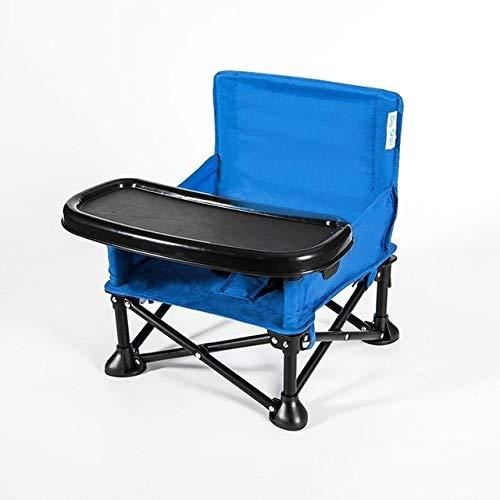 Tuzi Qiuge Plegable Silla de Seguridad for niños portátiles cenar Vector Y Silla 0-3 años del niño, Infantiles, Productos durables y portátiles (Color : Blue)