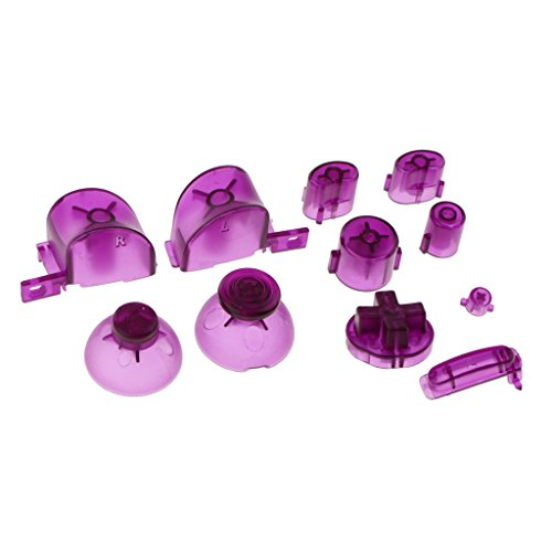 Baoblaze Kit de 11 Boutons en Plastique Confortable pour Manette Contrôleur Nintendo NGC - Accessoire de Jeu Vidéo - Violet
