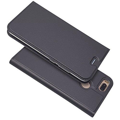 Copmob Funda Xiaomi Mi A1,Funda Xiaomi Mi 5X, Slim Billetera Carcasa,Carcasa PU Leather con TPU Suave Silicona,[Función de Soporte] [Ranuras para Tarjetas y Billetera] [Cierre Magnético] - Negro