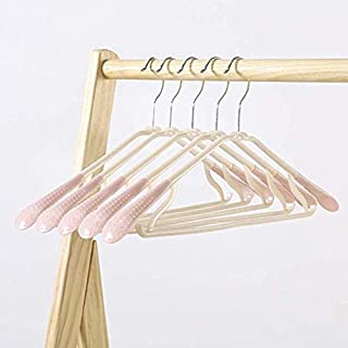 CYHWDHW Non-slip durable shirt hanger piece pink 41 5 plastic multi-purpose coat clothes hanger with rotating hook 1