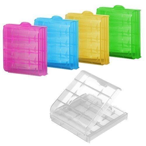 Accessotech 5 x Custodia Rigida In Plastica Supporto Scatola Di Immagazzinaggio Custodia per Ricaricabile AA batterie AAA