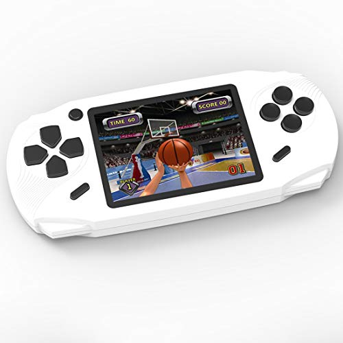 Bornkid 16 Bit Handheld Spielekonsole für Kinder und Erwachsene mit Integriertem 100 HD Videospiel 3,0 Zoll Seniors Electronic Handheld Spiele Jungen Mädchen Geburtstags Geschenk (Weiß)