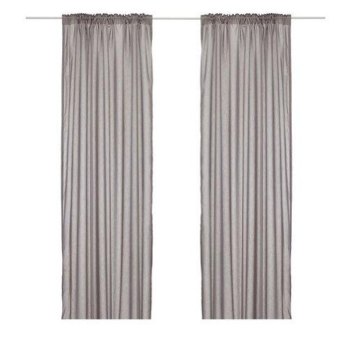 ikea home curtain panels Ikea Thin Curtains, 1 Pair, Gray