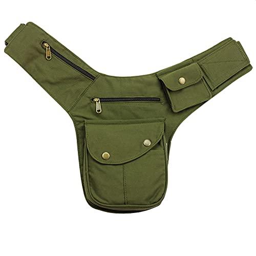 Freak Scene Tasche - Gürteltasche - Buddy - grün-Oliv - messingfarben - Bauchtasche - Hüfttasche