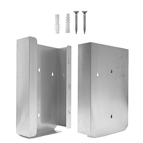 Handschuh-Spender Edelstahl  Für 3 Boxen (39 x 25.5 x 9.8) Silber
