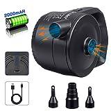 LIUMY 2-1 AKKU-Luftpumpe mit USB-Ladekabel, Elektrische Luftpumpe für Luftmatratze, Luftsofa, Boot,...