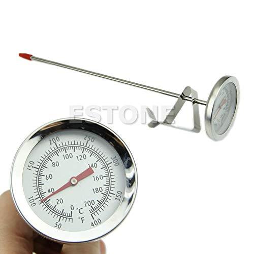 Yushu Horno de Acero Inoxidable Cocina Barbacoa Sonda Termómetro Alimentos Carne Calibrador 200°C XT-J-4 0-200 Grados Termómetro Herramienta Instrumentación Temperatura Instrumento de Medición
