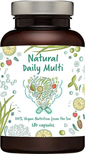 Natural Daily Multi - a Unique Mixture of Marine Algae and Ocean Water Concentrate, Rich in Amino acids, Vitamins, Minerals, Trace Elements and Fatty acids, All in Natural Form (180)