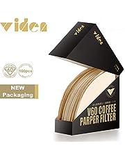 مجموعة فلاتر قهوة ورقية مخروطية الشكل في 60 من فيدن بتقنية متطورة تستعمل لمرة واحدة وتكفي لصنع قهوة لشخص او اثنين مكونة من 100 قطعة