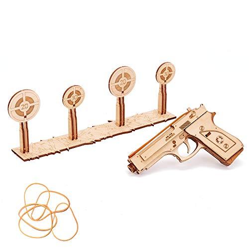 Puzzle de madera 3D   Pistola de gomas elásticas
