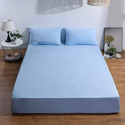 haiba Protector de colchón extra profundo de algodón, tamaño superking, calidad de hotel, comodidad y protección extra individual: 99 x 190 + 40 cm.