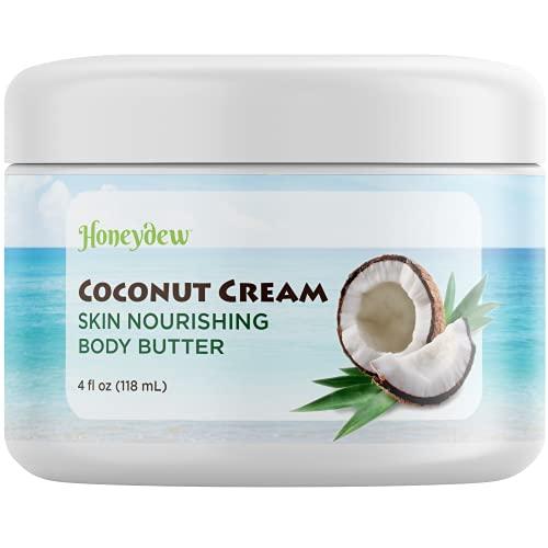 Coconut Oil Body Butter For Stretchmarks &Amp; Scars - Natural Skin Care For Women &Amp; Men - Anti Aging Cream Moisturizer For Dry &Amp; Sensitive Skin - Vitamin E Skin Tightening Cream - Anti-Wrinkle Treatment