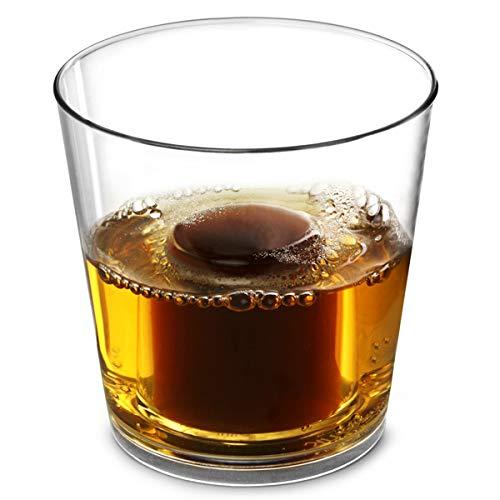 Elite - Bicchierini da liquore in policarbonato, 125 ml, confezione da 24 bicchieri, Jager Bomb Bomb, riutilizzabili, bicchierini da shot in plastica, 25 ml, CE con chaser da 100 ml