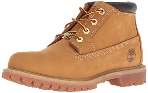 Timberland Women's Nellie Double Waterproof Ankle Boot,Wheat Yellow,7.5 W US