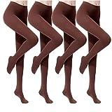 ANDIBEIQI 4 Pair Medias Mallas de Compresión de Mujer Legging Pantalones Elásticas LeotardosPantimedias contenitivas 120 Den compresión graduada 22-27 mmHg