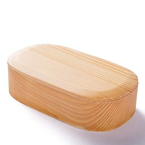 LHQ-HQ Box lunch Abeto oval con tapa se puede dividir en simple grano de madera de la caja de almuerzo portátil pastelería Caja 5.5x29x11cm Bento Box (Color: El color del cuadro, Tamaño: 5.5x29x11cm)