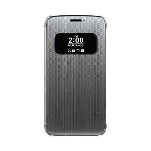 LG CFV-160.AGEUSV, Funda inteligente Quick Cover para LG G5, color plata