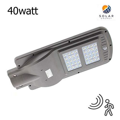 Farola LED Solar URBAN 40W Detector Movimiento K6000 Blanco Frío