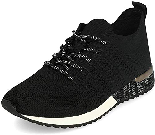 La Strada 1832649 Laced Up Knitted Black 37