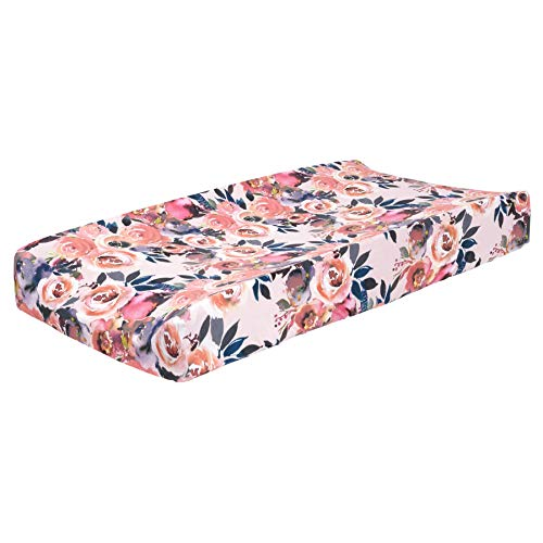"""Posh Peanut Baby Changing Pad Cover Stretchy Bamboo Viscose, for Standard 16"""" by 32"""" - Dusk Rose"""