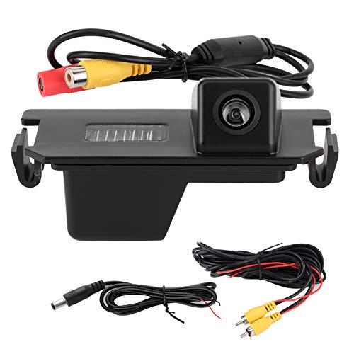 Qiilu IP67 Impermeable cámara de visión Trasera de Coche Digital CCD cámara de vídeo Compatible con Hyundai I30 Rohens Coupe Verna/Kia Soul