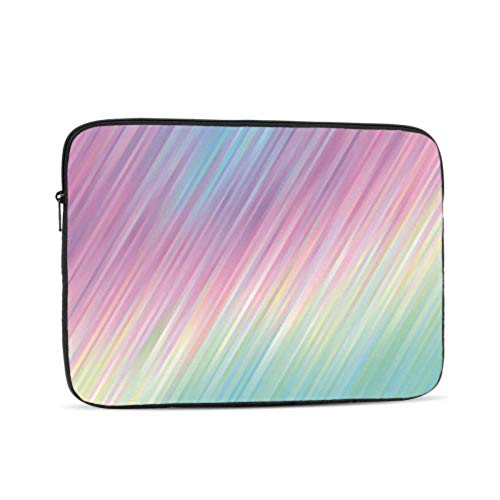 MacBook Pro 2017 Accessories Holographic Gradient Stripes Vector Pastel MacBook Assessories Multi-Color & Size Choices 10/12/13/15/17 Inch Computer Tablet Briefcase Carrying Bag