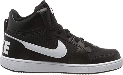 Nike Unisex Kinder Court Borough MID PE (GS) Walking-Schuh, Black/White, 39 EU