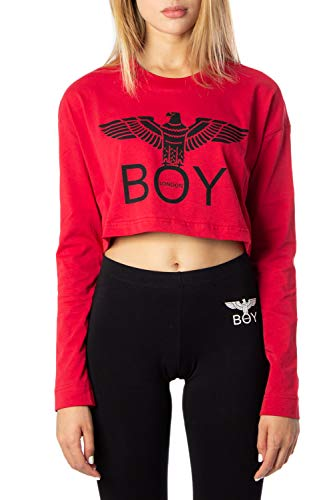 Boy London T-Shirt Donna Jersey Corta con Stampa bld2047 m Rosso