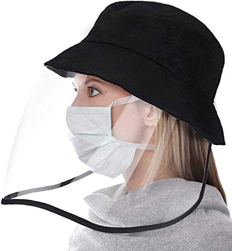 Anti Saliva Sun Hat for Women Men Safety Face Shield Protective Cotton Removable Cap(Fisherman Hat)
