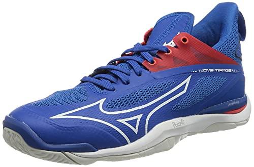 Mizuno Herren Wave Mirage 4 Handballschuh, French Blue White Ired, 45 EU