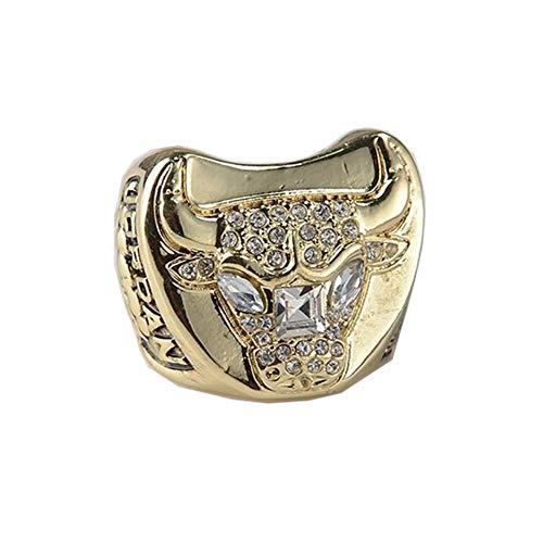 TYTY Basketball NBA 1997 Chicago Bulls Championship Ring Hombre, Championship Anillo de réplica Personalizado Anillos de Diamantes para Hombres,with Box,11