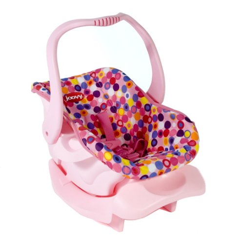 Image of Doll Toy Car Seat - Pink Dot