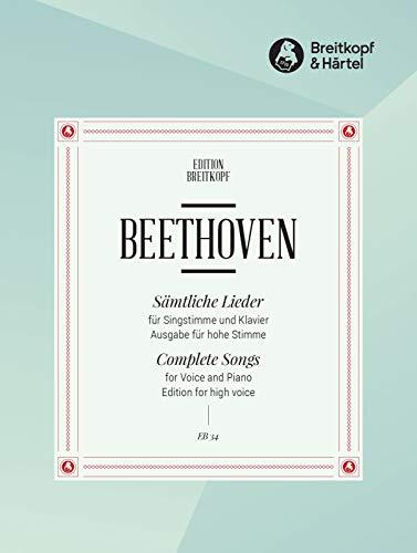 Sämtliche Lieder - Ausgabe für hohe Stimme und Klavier (EB 34)