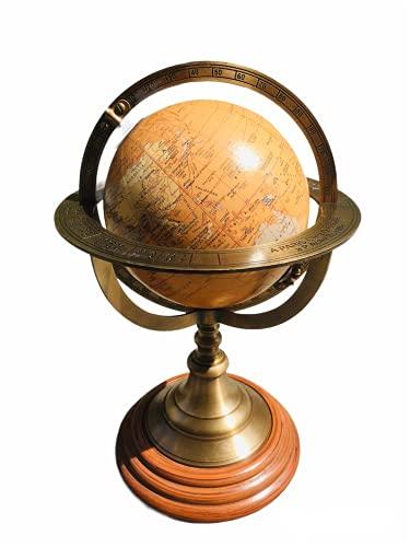 Venus incorporation Nautical World Brass Armillary Sphere Handmade Desk Décor Globe